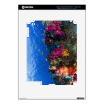 Soft corals on shallow reef, Fiji Decals For iPad 3