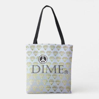 Soft cotton dime bag. tote bag