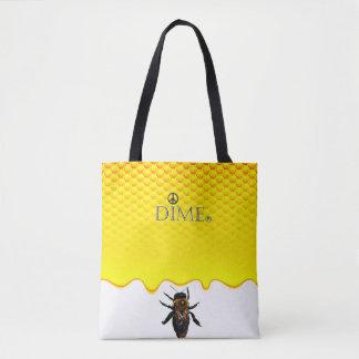 Soft cotton dime tote bag