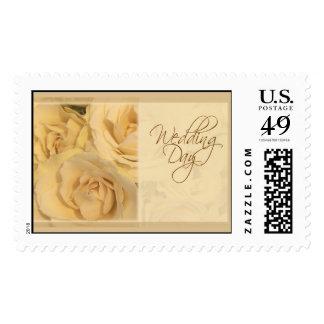 Soft Cream Wedding Day Rose Stamps