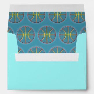 Soft cyan basketballs envelope