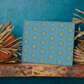 Soft cyan basketballs plaque