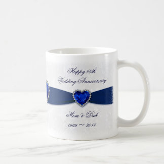 Soft Damask 45th Wedding Anniversary Mug