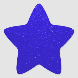 Soft Dark Blue Glitter Star Sticker