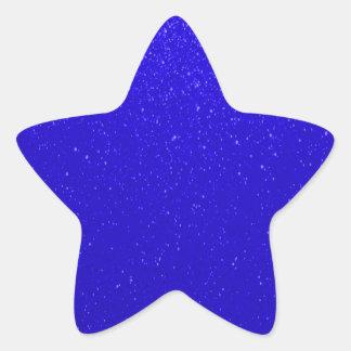 Soft Dark Blue Glitter Star Sticker