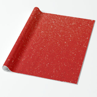 Soft Dark Red Glitter Print Wrapping Paper