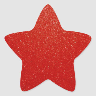Soft Dark Red Glitter Star Sticker