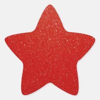 Soft Dark Red Glitter Star Sticker