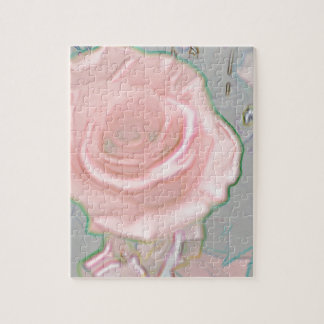 Soft Delicate Pink Hues Artistic Design Jigsaw Puzzle