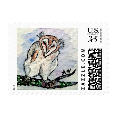 Soft Downy Baby Owl Stamp