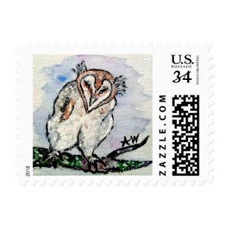 Soft Downy Baby Owl Stamp
