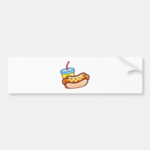 Soft drink hotdog bumper sticker