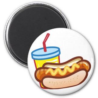 Soft drink hotdog magnet