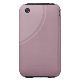 Soft dusty mauve tough iPhone 3 case