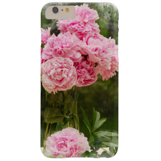 Soft Edged Pink Peony Bouquet Barely There iPhone 6 Plus Case