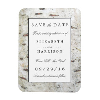 Soft Edged White Wood Wedding Save The Date Magnet