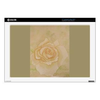 """Soft Elegant Romantic Golden Autumn Rose 17"""" Laptop Skins"""