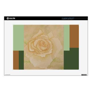 Soft Elegant Romantic Golden Autumn Rose Laptop Decal