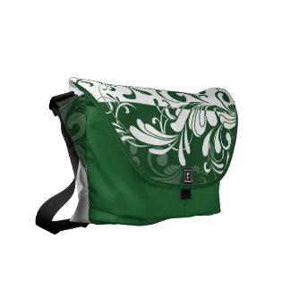 Soft Emerald Green Swirl Shoulder Messenger Bag