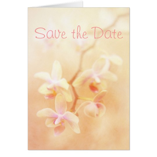 Soft & Faded Orchids Save the Date Card