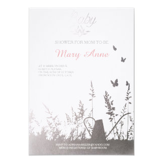 Soft fake silver baby blossom in the spring design card