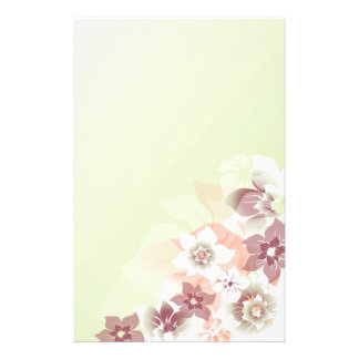 Soft Fall Flowers - Stationary - 4 Stationery