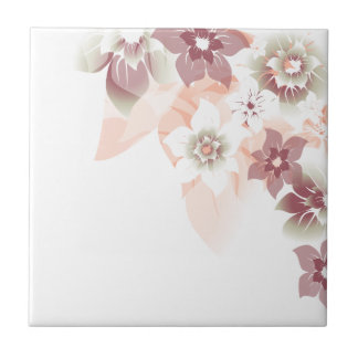 Soft Fall Flowers - Trivit - 1 Ceramic Tile