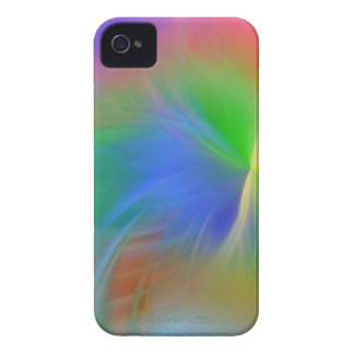 soft feathery rainbow colors iPhone 4 Case-Mate case