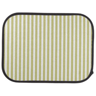 Soft Fern Green And White Cabana Stripe Pattern Car Floor Mat