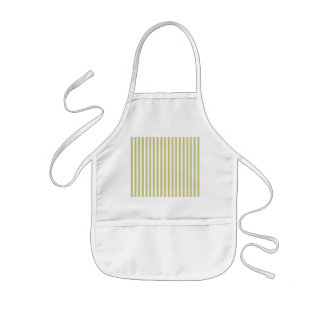 Soft Fern Green And White Cabana Stripe Pattern Kids' Apron