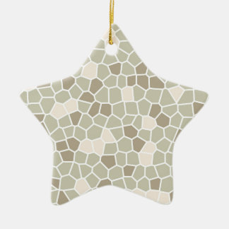 Soft Fern, Honeyed Almond and Nantucket Gray Ceramic Ornament