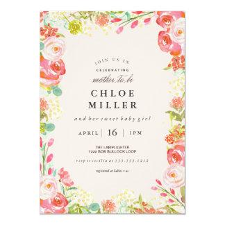 soft floral baby shower invitation