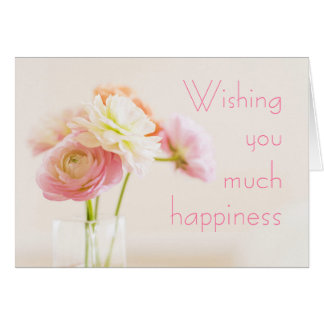Soft Floral Birthday Wishes Card