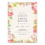 SOFT FLORAL bridal shower invitation pink