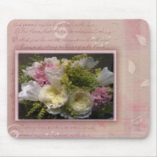Soft floral design mouse pad