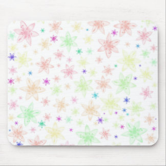 Soft Floral Flowers Mouse Pad