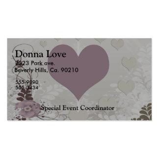 Soft Floral Hearts Set Business Card