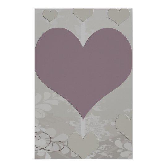 Soft Floral Hearts Set Stationery
