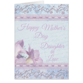 Soft Floral Lily Daughter-in-Law Mother's Day Card