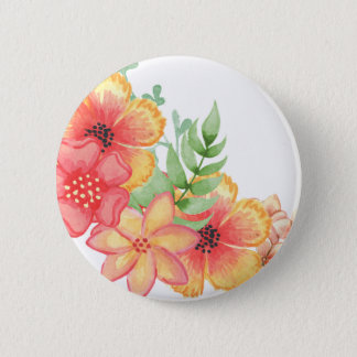 Soft Floral Pinback Button