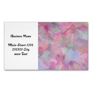 Soft Floral pink (I) Business Card Magnet