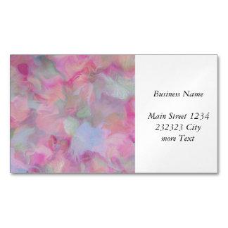Soft Floral pink (I) Magnetic Business Card