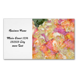 soft floral,roses (I) Business Card Magnet