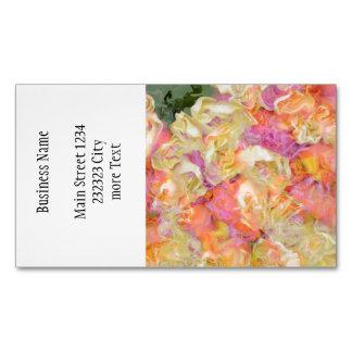 soft floral,roses (I) Magnetic Business Card