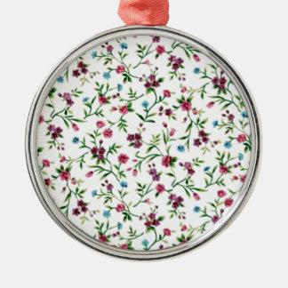 soft floral standard metal ornament