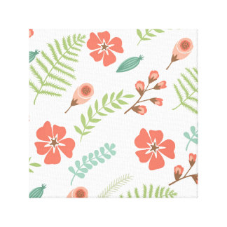 "Soft Floral Wrapped Canvas 12"" x 12"", 1.5"", Single"