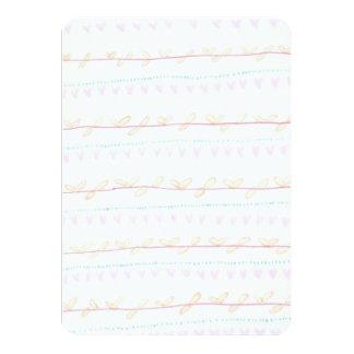 Soft FloralVine Stripe Whimsical invitation cards