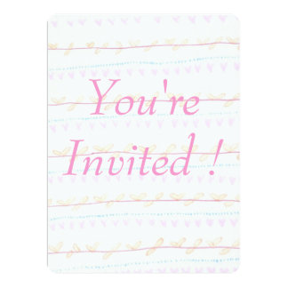 Soft FloralVine Stripe 'You're Invited' cards