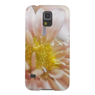 Soft Flower and Water Drop Photograph Case For Galaxy S5