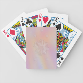 Soft Flower on Pastel Medley Bicycle Playing Cards